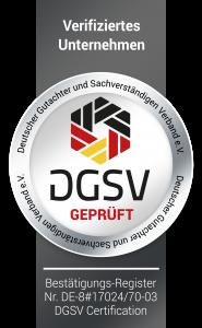 DGSV geprüft Gutachter Hamburg