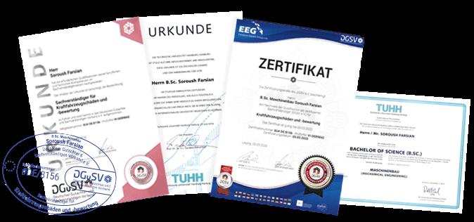 Kfz Gutachter S DRIVE Zertifikate
